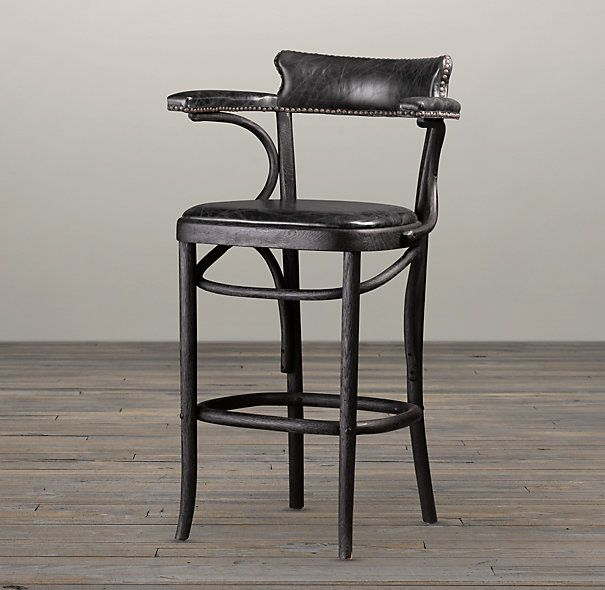 vienna cafe counter stool slate leather bar counter. Black Bedroom Furniture Sets. Home Design Ideas