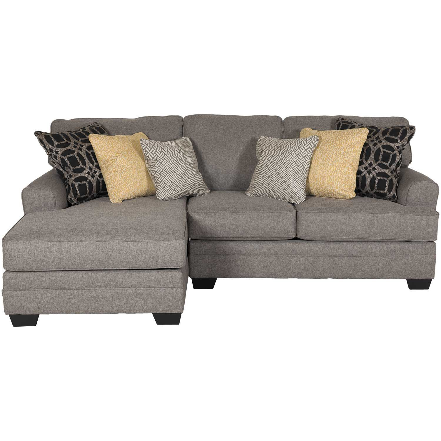 Cresson 2 Piece Pewter Sectional With Laf Chaise Ashley