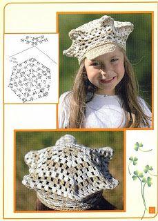 """"""" MOSSITA BELLA PATRONES Y GRÁFICOS CROCHET """": Hat Granny Hexagon, Gorros a Crochet!"""