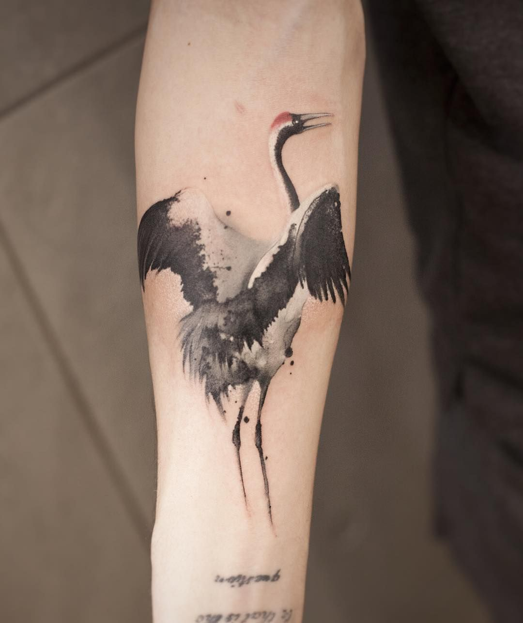 Crane Tattoo By Chenjie Newtattoo Tattoos Japanese Tattoo Bird Tattoo Men