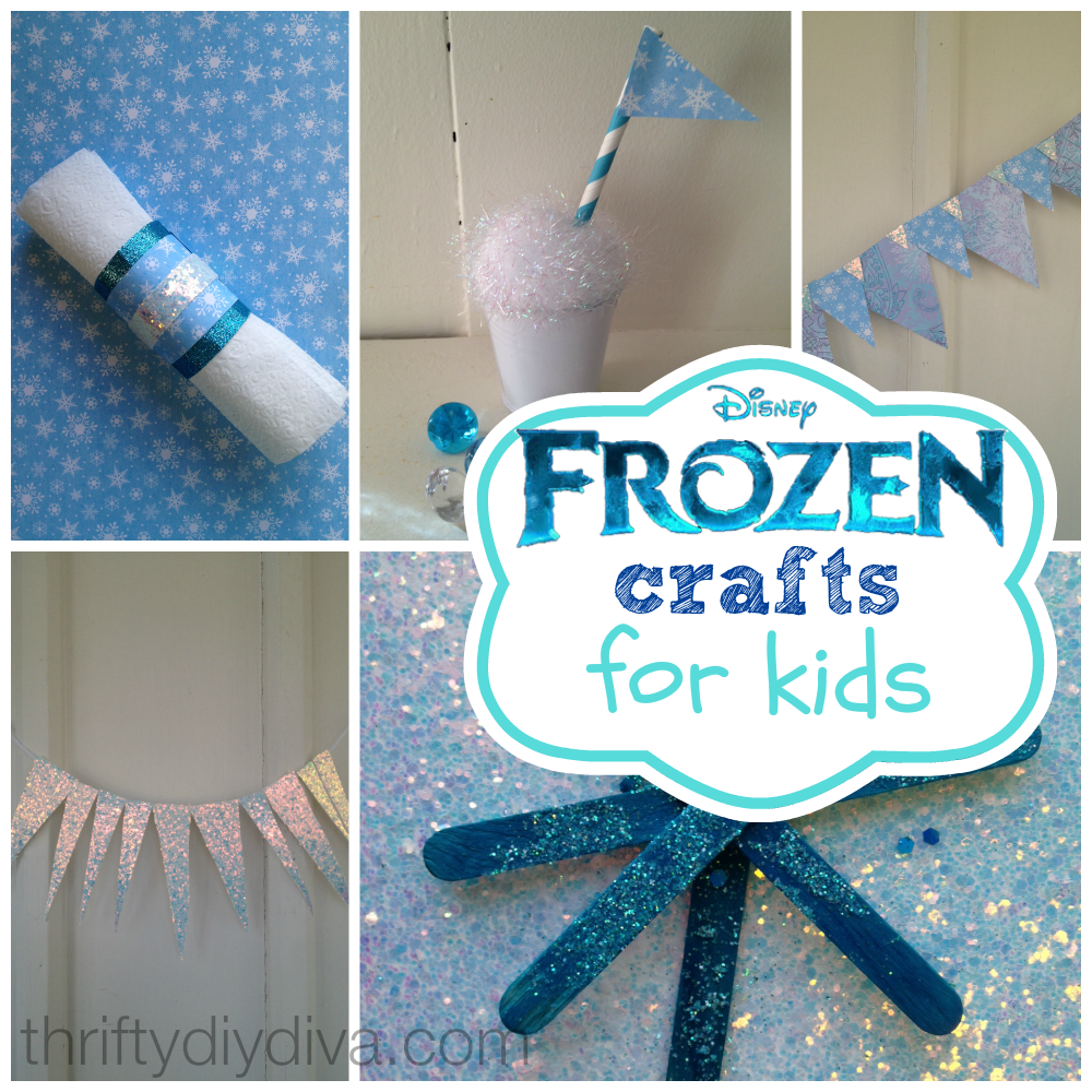 disney frozen crafts for kids on a budget | frugal living crafts diy