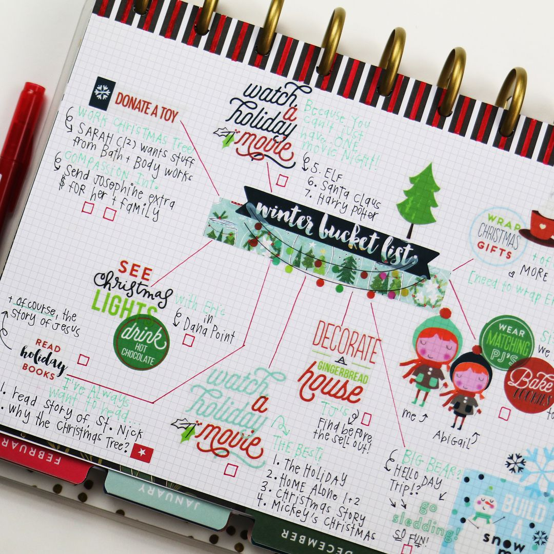 Repost hannahjoyyyy yay for the holidays i fa la la la la i fa la la la la love all of it swipe for more new to the happy planner youtube channel a winter bucket list sciox Images