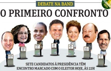 O debate na Band: Aécio Neves foi o melhor no show de horrores. Poucas propostas decentes, muita enrolação, fuga pela tangente, dados infundados e promessas vazias. Um espetáculo desprovido de essência, de solidez, de argumentos e propostas efetivas. Perde a democracia, ou talvez seja esta a democracia possível para nosso Brasil de hoje – quero crer que não