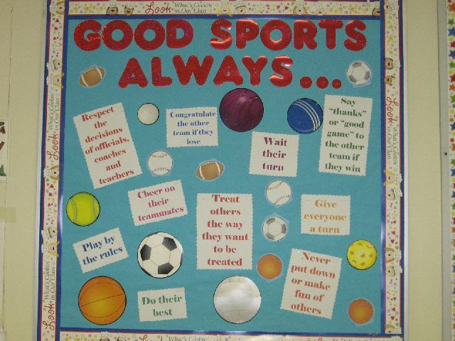 Pec Bulletin Boards For Physical Education Sports Theme Classroom Elementary Physical Education Physical Education Bulletin Boards