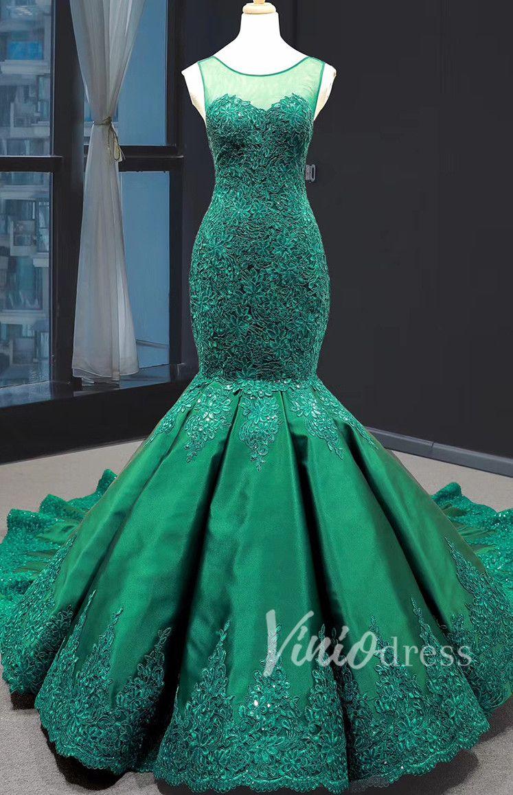 Emerald Green Mermaid Prom Dresses Lace Pageant Dress Fd1389 Mermaid Prom Dresses Lace Prom Dresses Vintage Pretty Girl Dresses [ 1158 x 747 Pixel ]