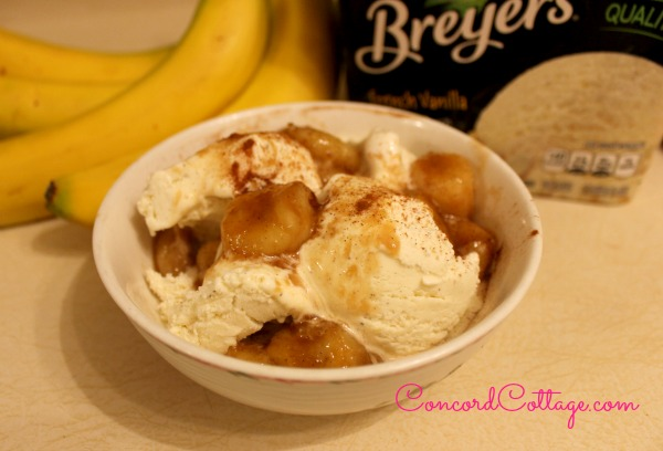 Bananas Foster is so easy to make!  Showing you how at www.ConcordCottage.com