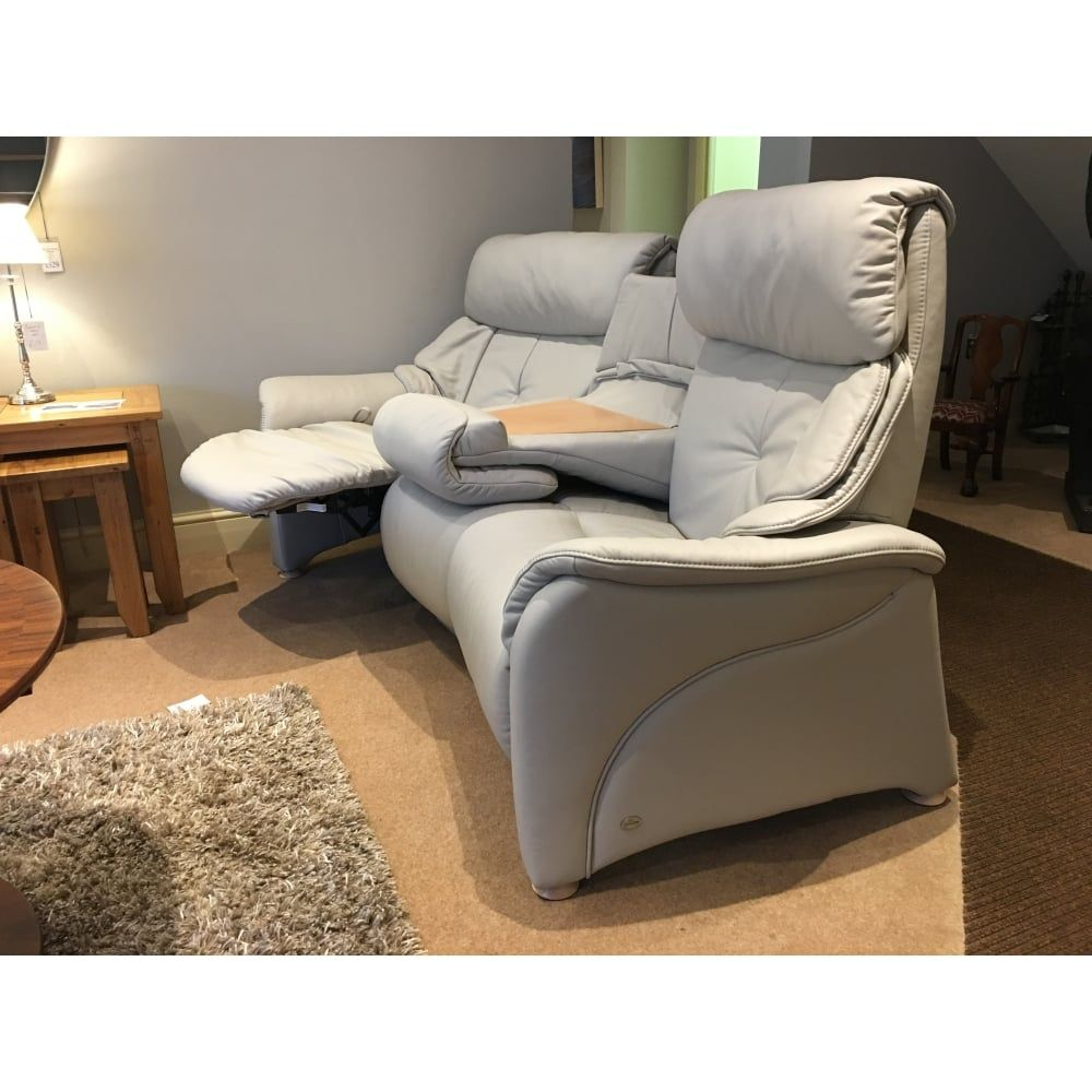Himolla Uly Chester 3 Seater Curved Manual Reclining Sofa With Retractable Table Clearance Free Local Delivery