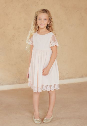 0bd14f753a659 Flower girl dress in blush