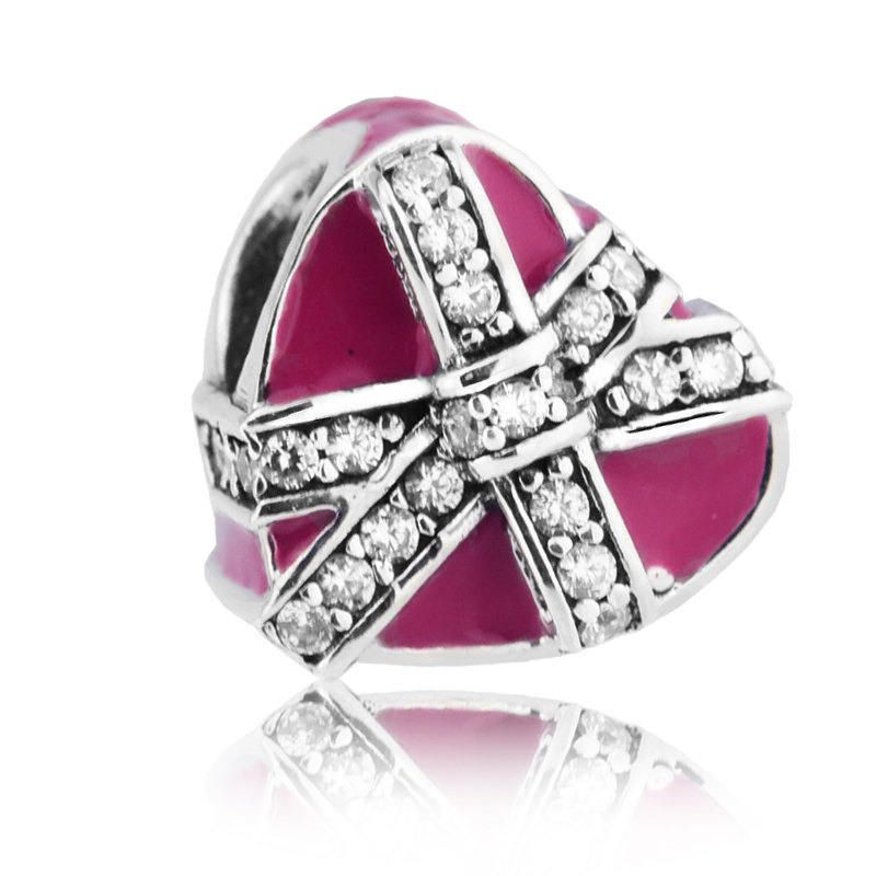 charm pandora pacchetto regalo rosa