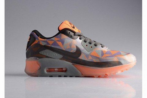 new arrival a1b89 599e5 Nike Air Max 90 25th Anniversary Ice Diamond Womens Running Shoes  Transparent Gray Orange Purple For Sale