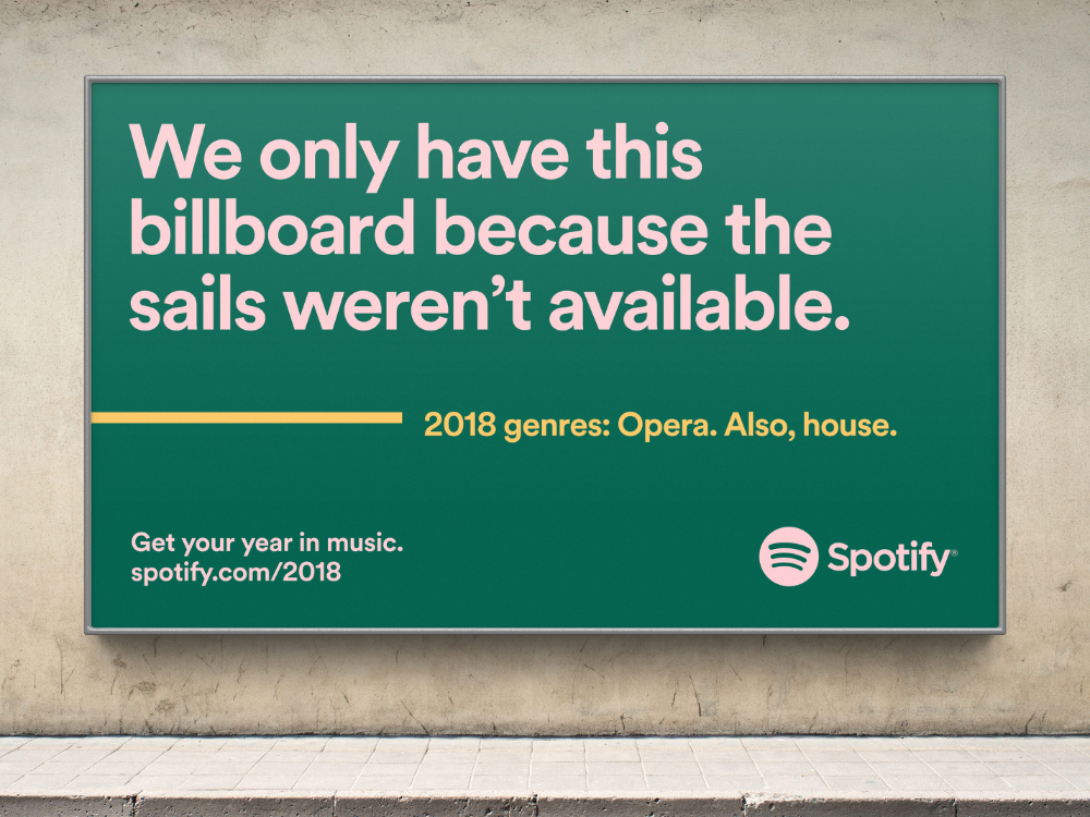 Spotify 2018 Wrapped Christopher Doyle Co In 2020 Spotify Design Spotify Billboard Advertising