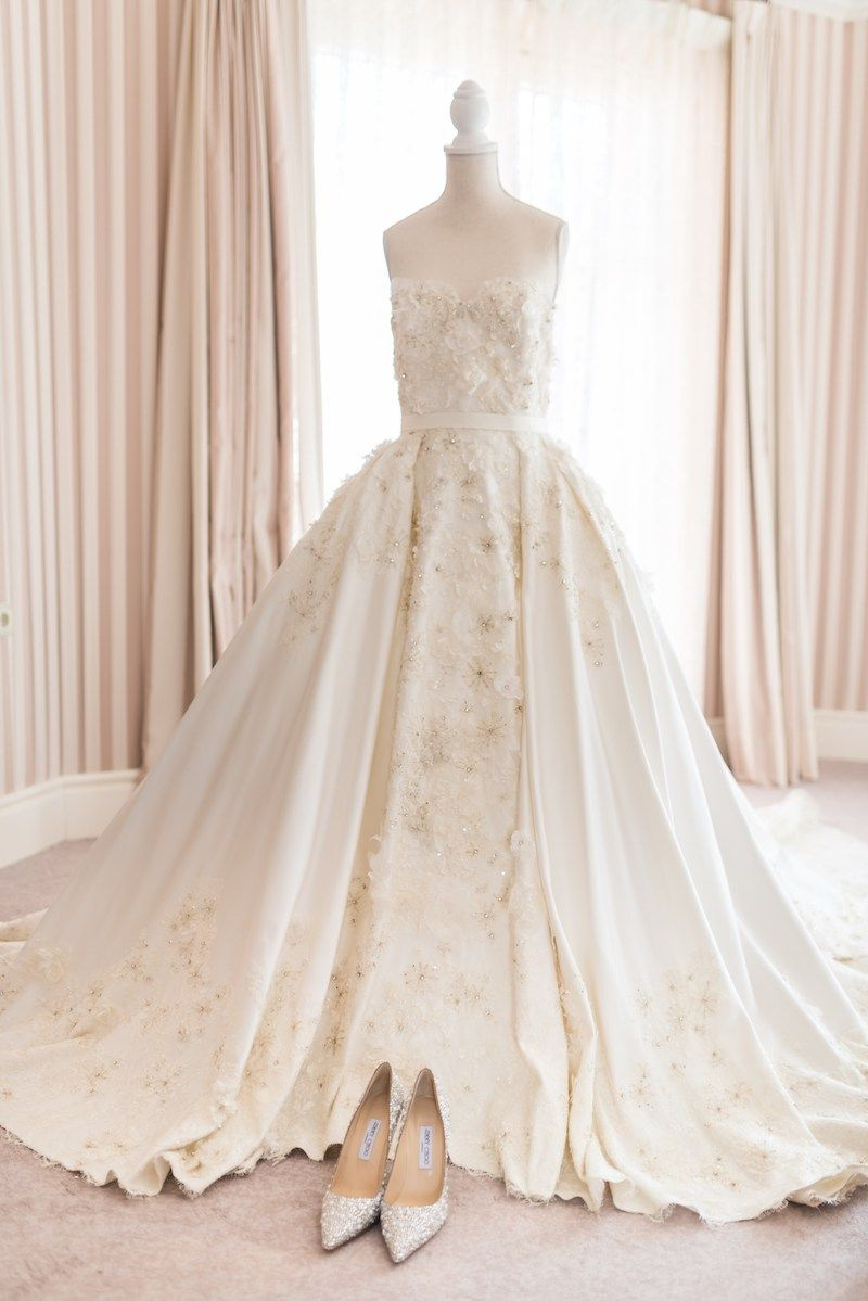 Elie Saab Bridal Gown | Ela + Anil | South Asian Wedding Blog ...