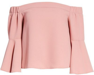 943b9af4de0038 Topshop Ella Off the Shoulder Top | Fashion | Off shoulder shirt ...