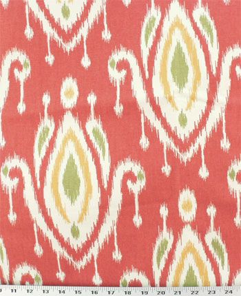 Surat Coral Fabric Pillow Fabric Ikat Fabric Fabric Decor