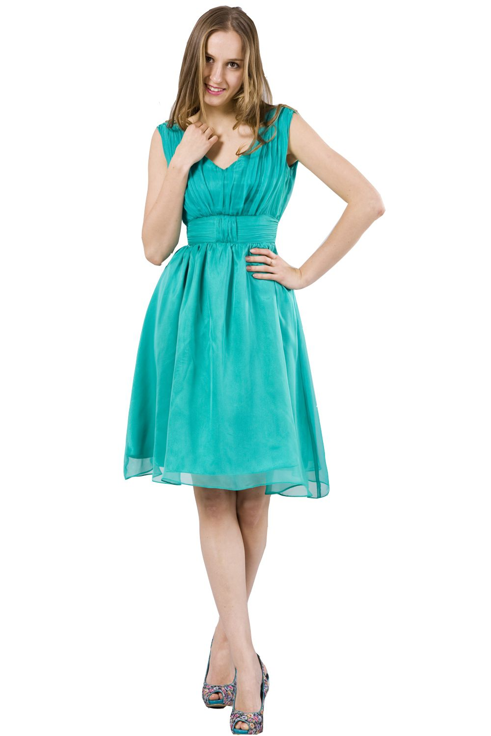 Kelly green v neck cocktail dress bridesmaid dresses pinterest kelly green v neck cocktail dress ombrellifo Gallery