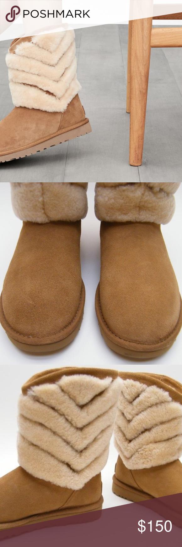 b73546db73c UGG Australia Tania Genuine Shearling Boots Shoes Tufts of plush ...