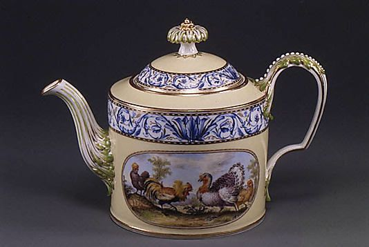 Teapot with cover and stand (part of a service)