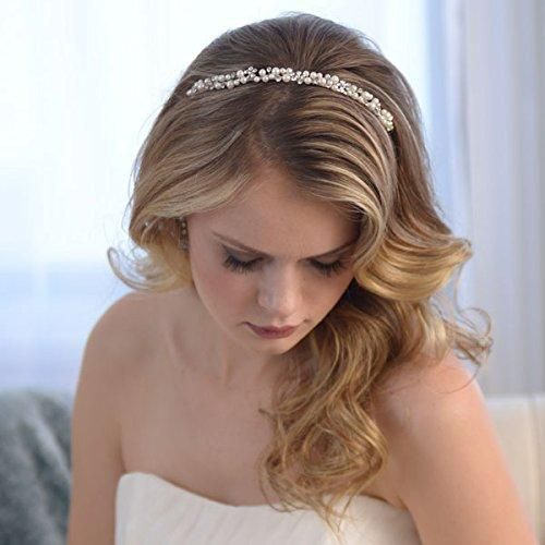 Elegant Simulated Pearl Bridal Headband - Wedding Hair - Samantha Peach US #shorthair | Braided ...