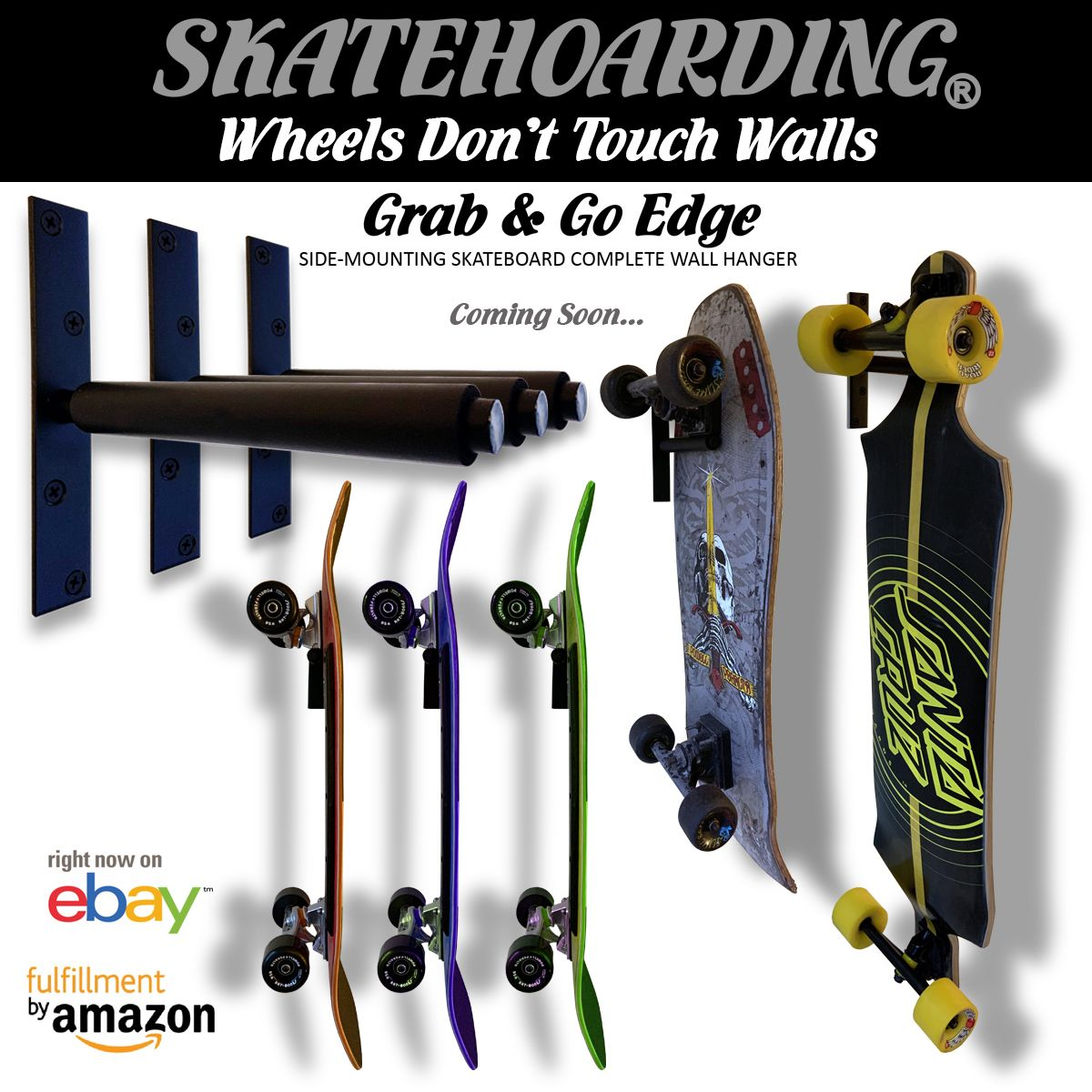 Details about grab go edge skateboard complete wall