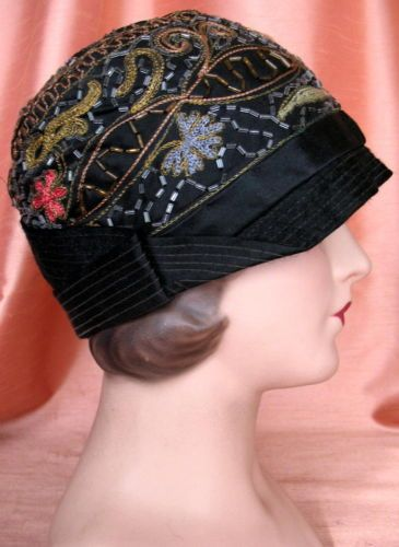 Incredibly Beautiful Vintage 20's Cloche Beaded Flapper Hat EX | eBay