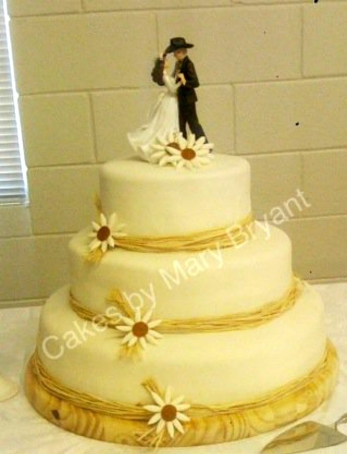 simple western wedding cake | Cake Decorating | Pinterest | Western ...