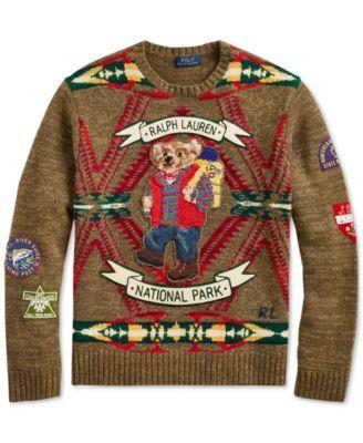 c26f8984154 Polo Ralph Lauren Men s Great Outdoors Hiking Bear Sweater - Beacon W  Bear  2XL