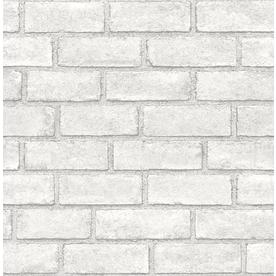 Scott Living 30 75 Sq Ft White Vinyl Textured Brick 3d Self Adhesive Peel And Stick Wallpaper Lowes Com In 2020 Peel And Stick Wallpaper Textured Brick Wallpaper Brick Wallpaper