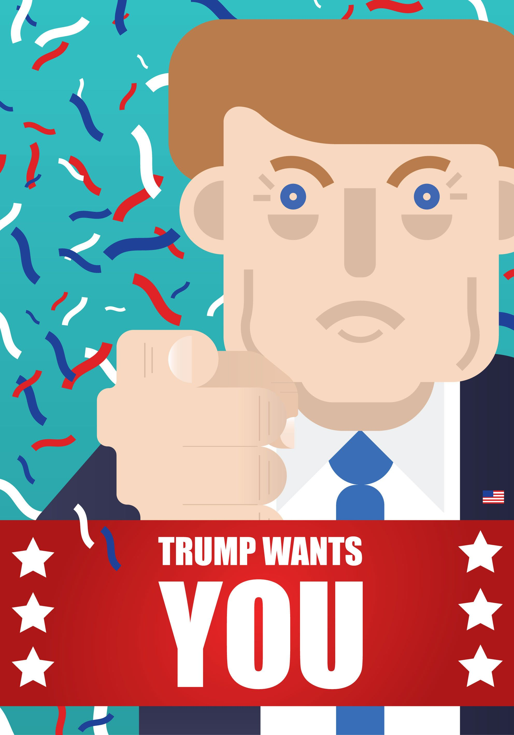 """Check out this @Behance project: """"Trump poster"""" https://www.behance.net/gallery/43356011/Trump-poster"""