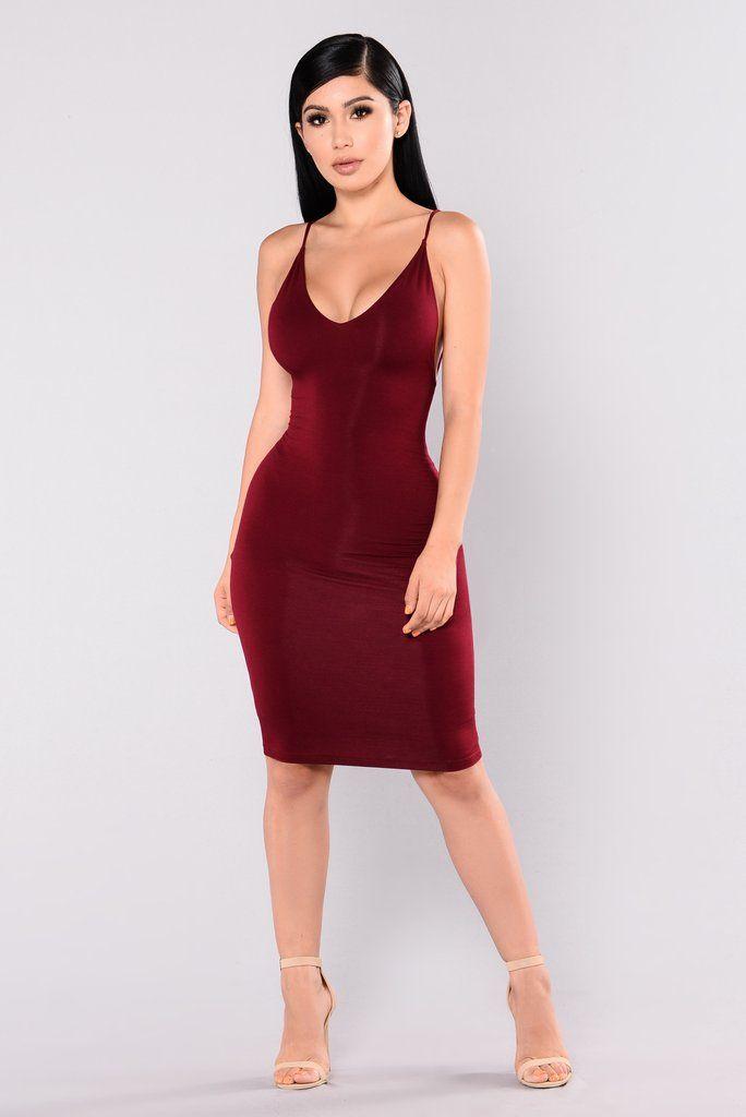 4b35cb2b9e Leticia Dress - Burgundy Fashion Nova Models