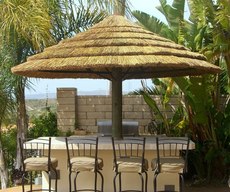 Africa Thatch Reed Umbrella Kit 7 Backyard X Scapes Offers Multiple Sizes Of Kits Constructed The Finest African Available