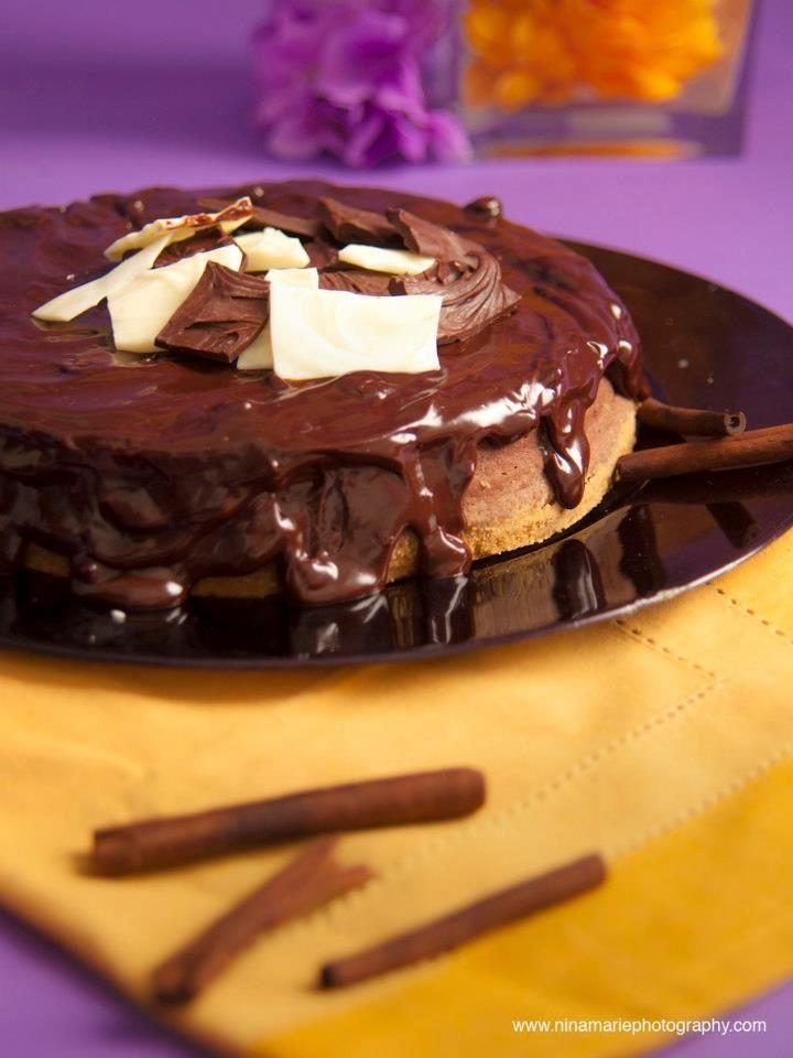 Abuelita cheesecake (chocolate cinnamon) photo credit: Nina Marie