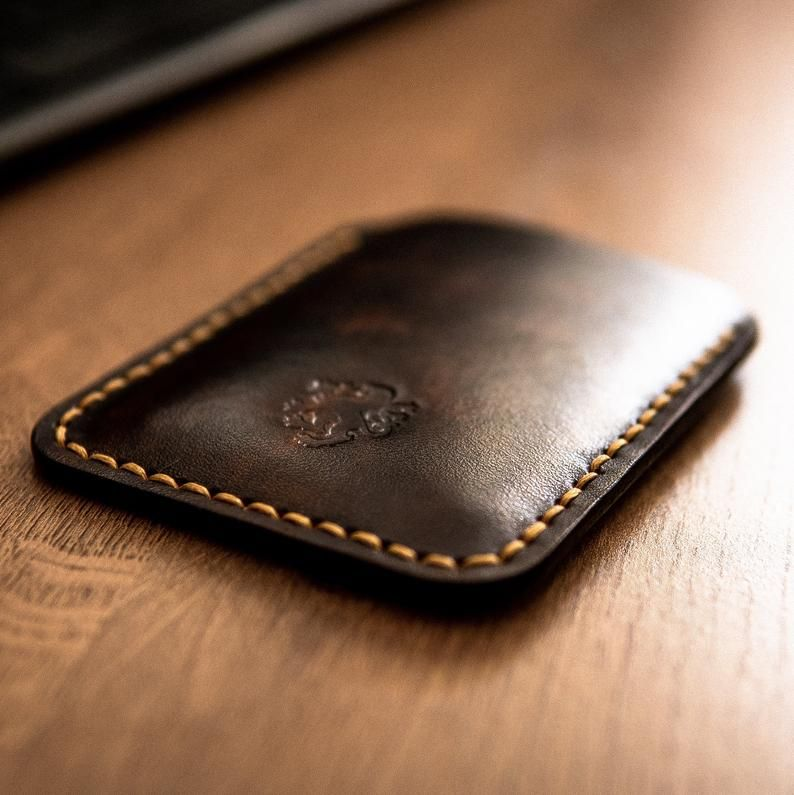 Business Card Case, Card Case Wallet, Leather Card Holder, Front Pocket Wallet, Slim Leather Wallet, #leatherwallets