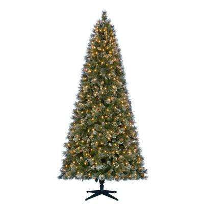 9 ft. Pre-Lit LED Sparkling Pine Quick-Set Artificial Christmas ...