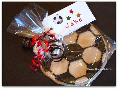 The Recipe Girl: How to Make Soccer Ball Cookies
