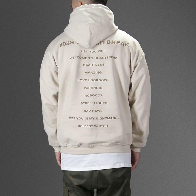 Hzijue Kanye West Hoodie 808s Heartbreak Music Album Sweatshirt Fleece Thick Tracksuit Brand Jumper 2017 Win 808s Heartbreak Hoodies Mens Sweatshirts Hoodie