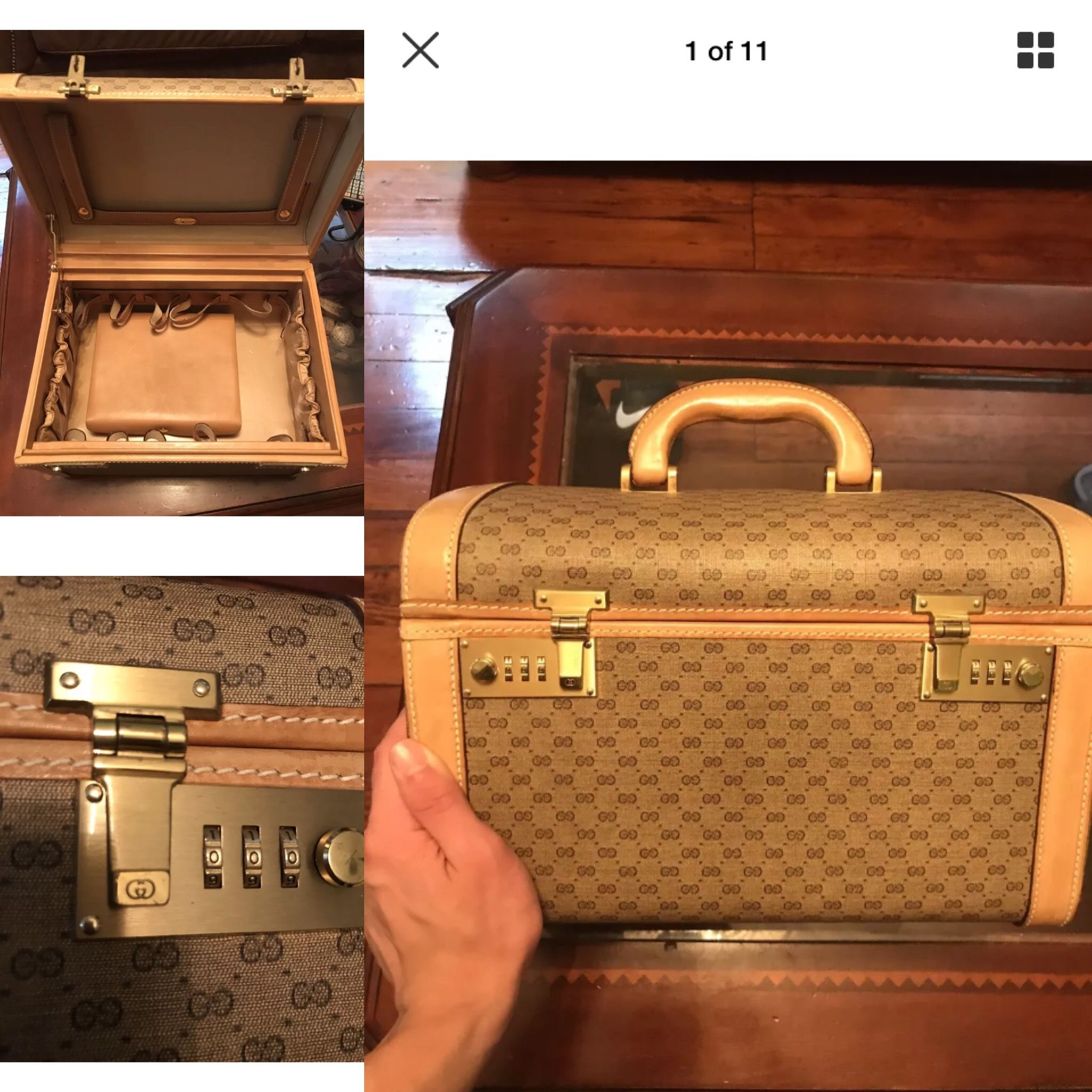 944f9fbf746b4 Amazing vintage Gucci Africa mignon hard train case available IG ...