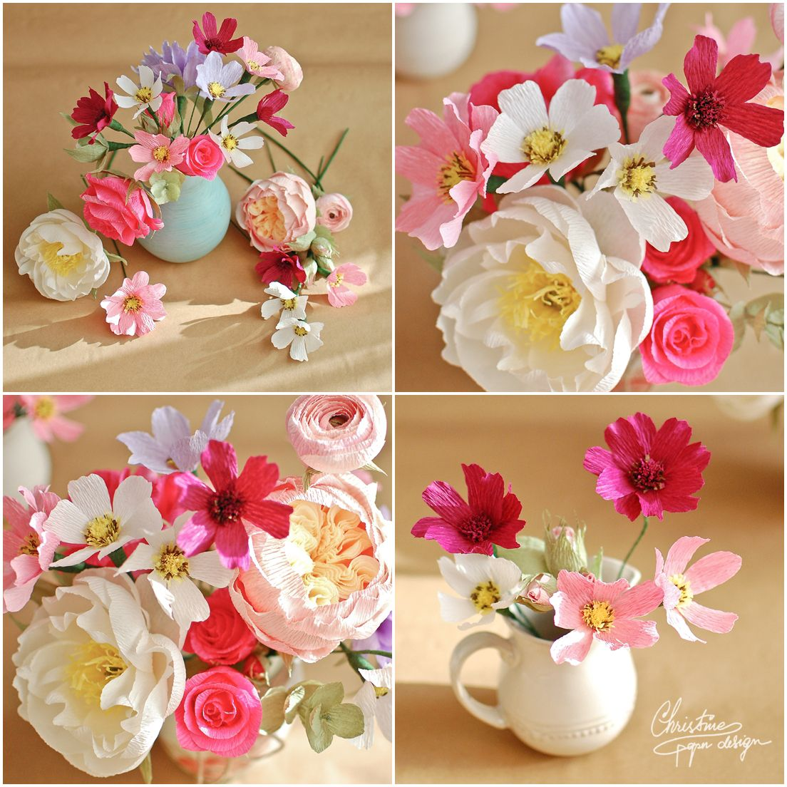 6Christine paper design - paper flowers, cosmos. | MakinFlowers ...