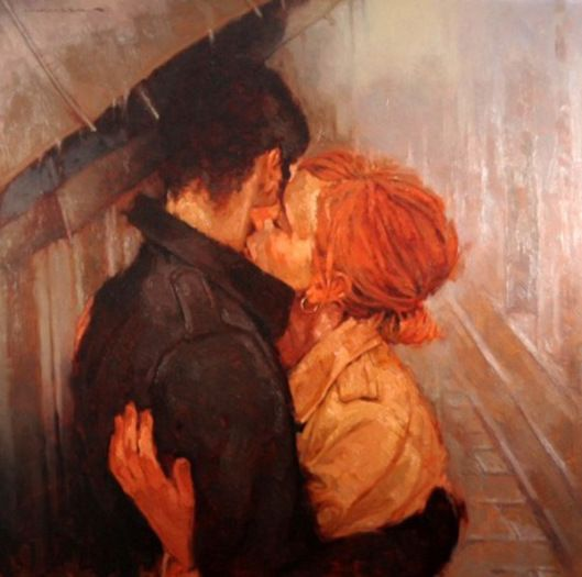 Joseph Lorusso Kisses In The Rain Romantic Art Art Art Painting