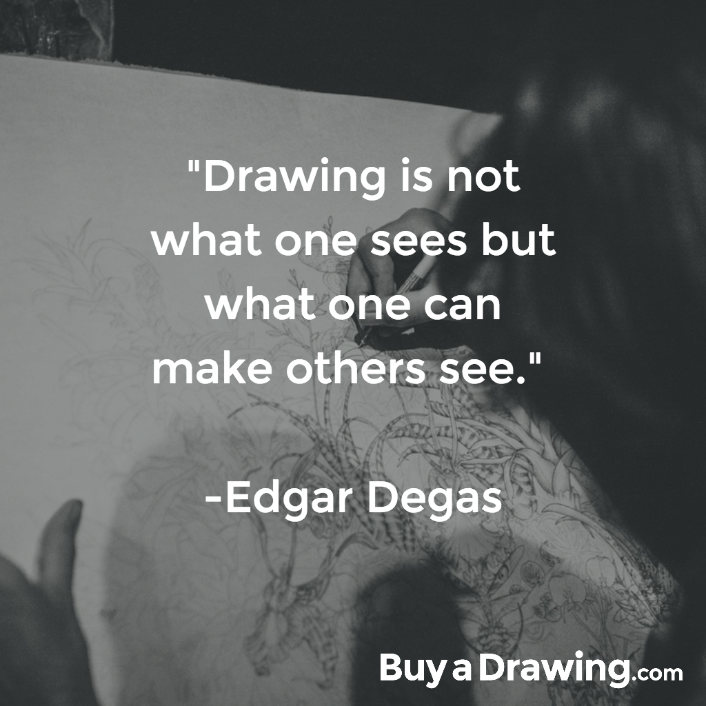 Art Drawing Quote