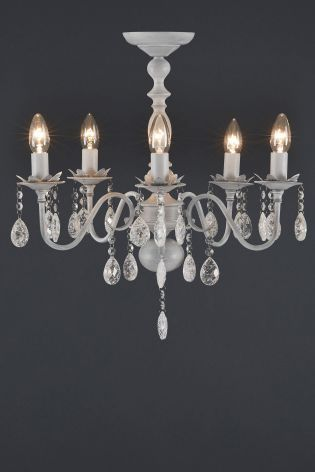 Bethany 5 Light Grey Washed Chandelier From The Next Uk Online
