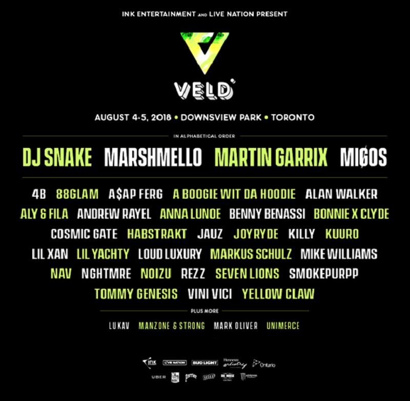 Veld Music Festival 2018 Lineup Veld Music Festival Music Festival Festival