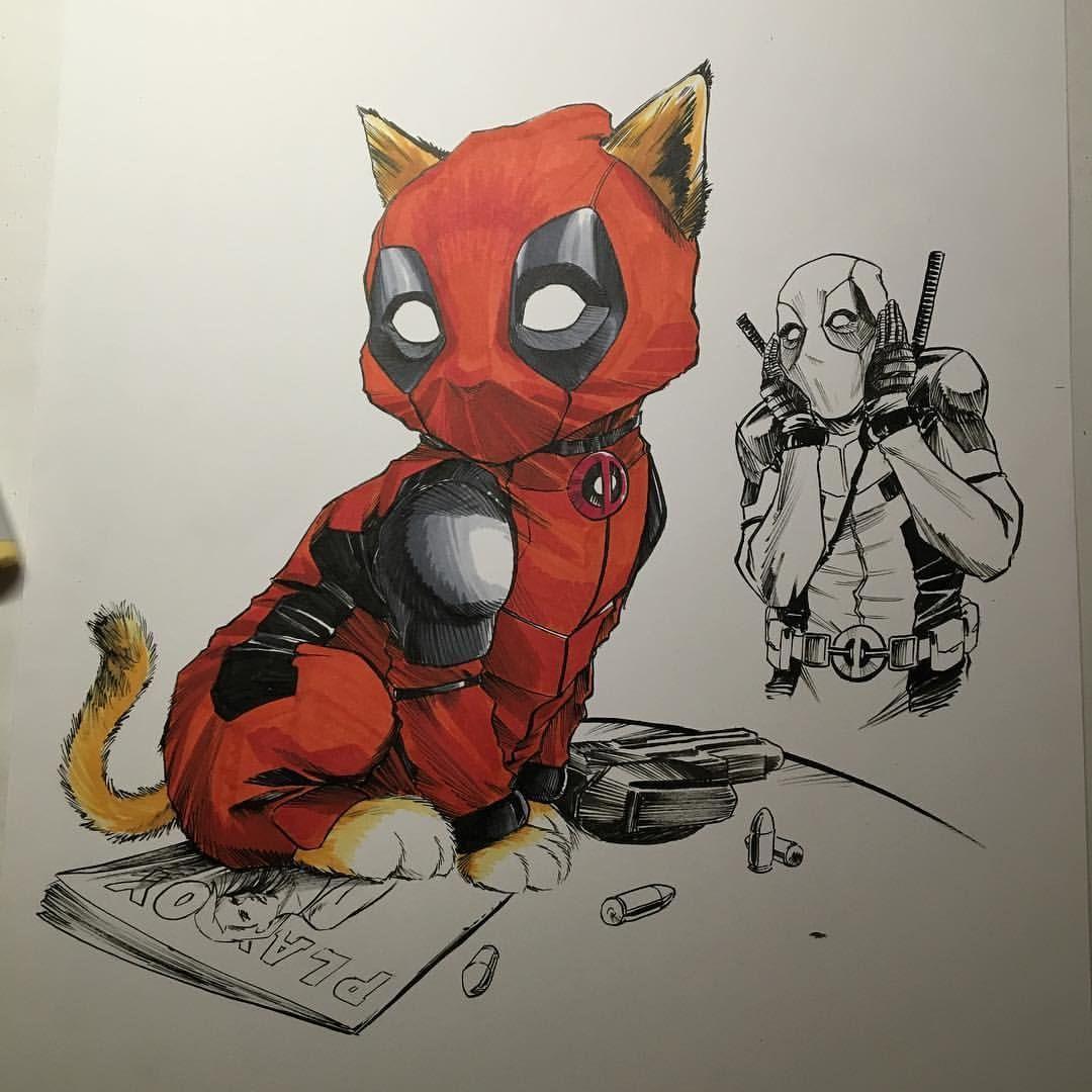 CreeesArt — Coloring Deadpool Kitty now deadpool kitten