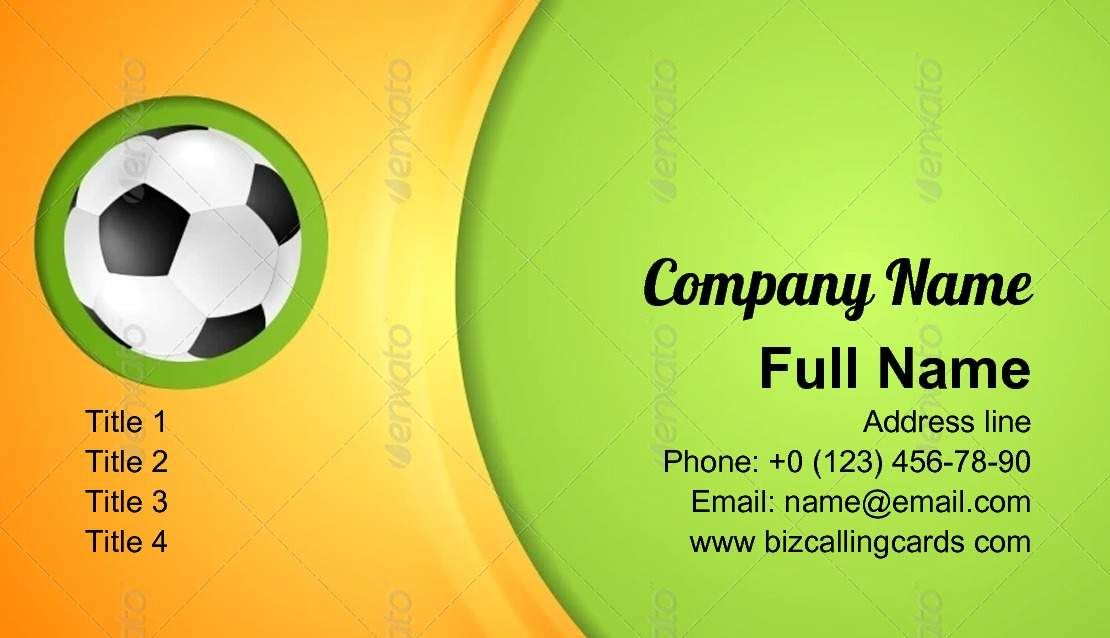 Waves Football Sport Business Card Template Business Card Template Business Card Design Creative Sports Business