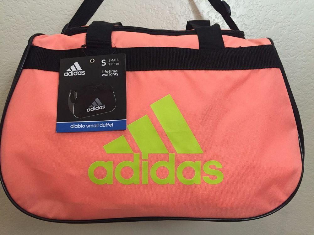 ADIDAS Diablo Small Duffel Women Gym bag luggage Flash orange Black Solar  Yellow  Adidas 88f97ea311ea1