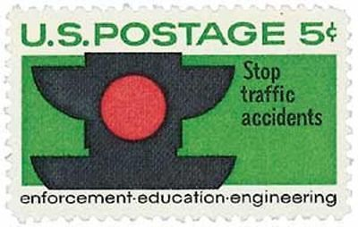 1965 Traffic Safety 5 cents US Postage Stamp  Scott #1272 MINT