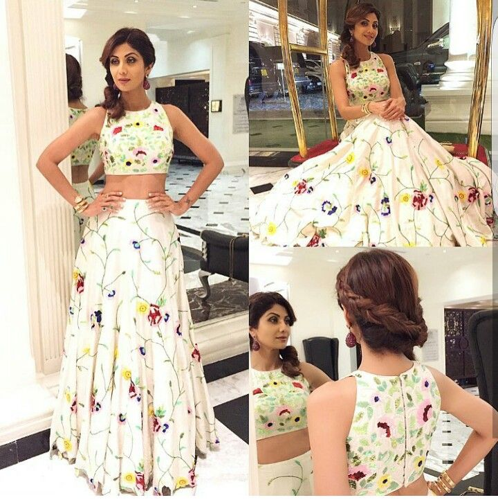 95f3938a466e Shilpa Shetty in Mayyur Girotra couture outfit