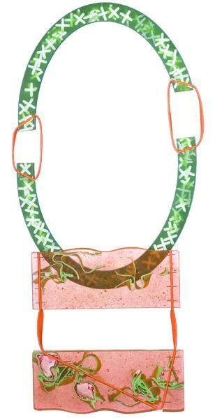 Stephie Morawetz, 262080, 2014, necklace, Stephie-Stone, rubber band, 560 x 320 x 30 mm, photo: Manuel Ocaña