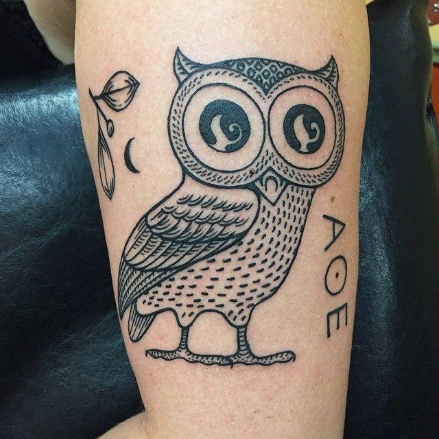 Owl Of Athena Tattoos Purplepanthertattoo Birds Athena