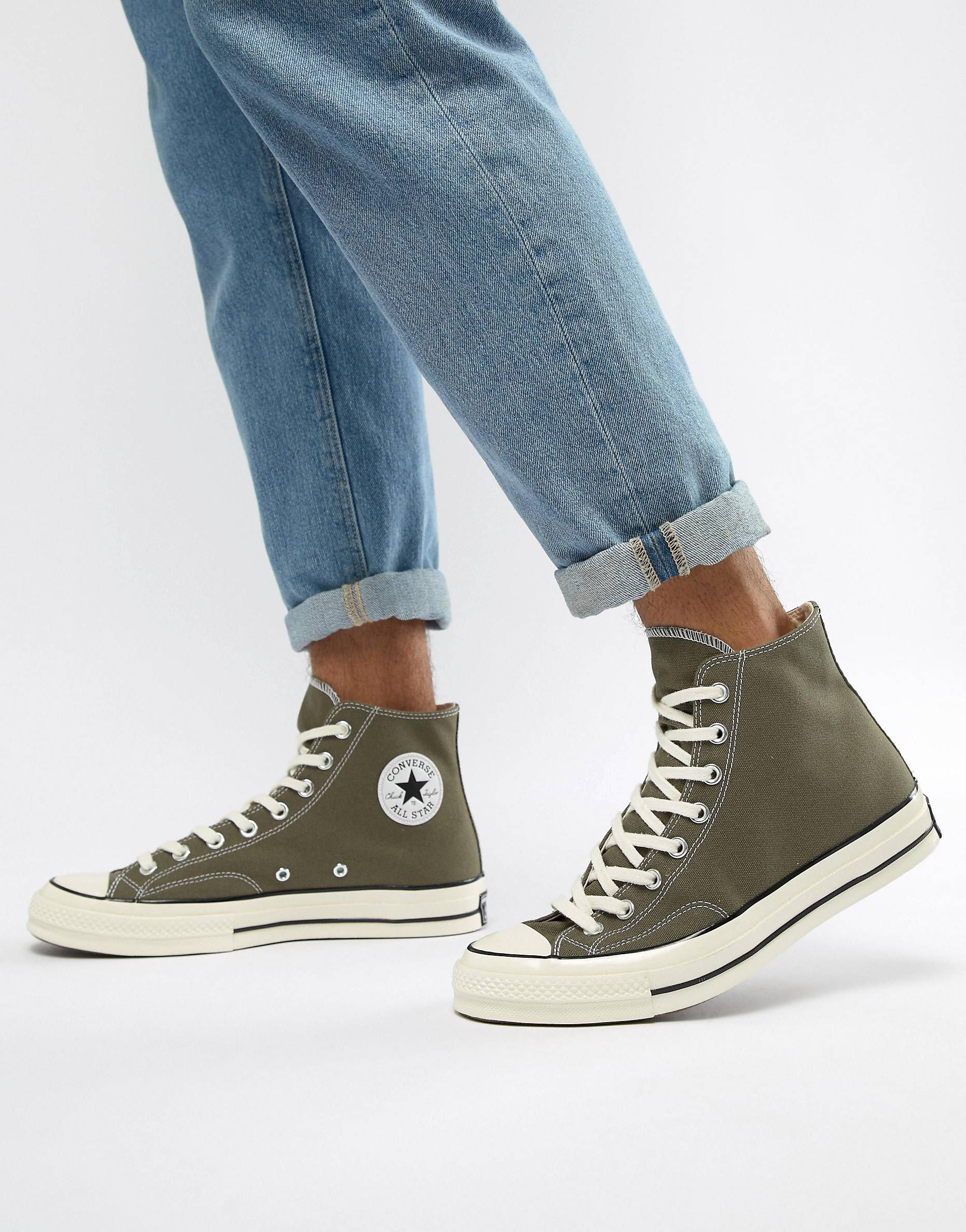converse verte kaki