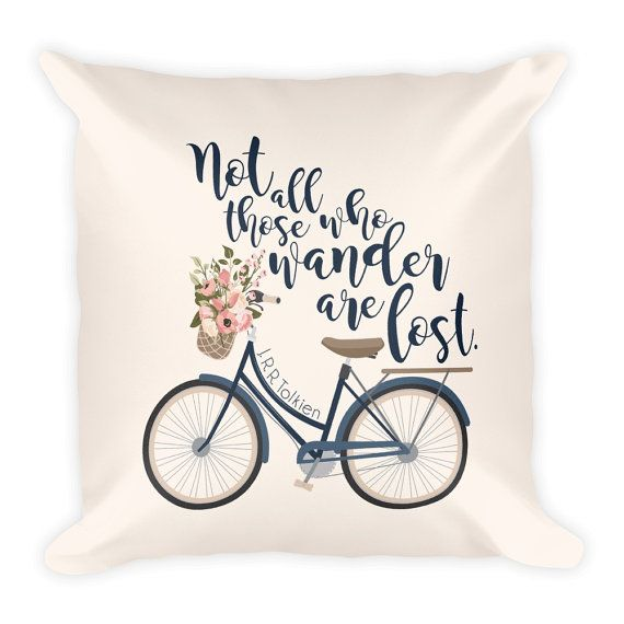 pillow cover JRR Tolkien Not all those who wander are lost